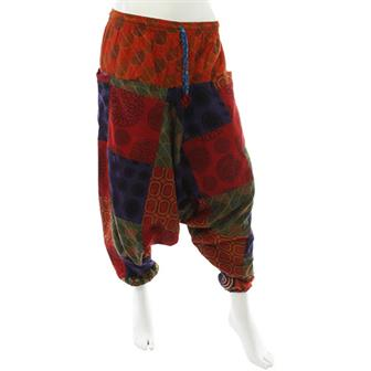 Mixed Print Ali Baba Trousers