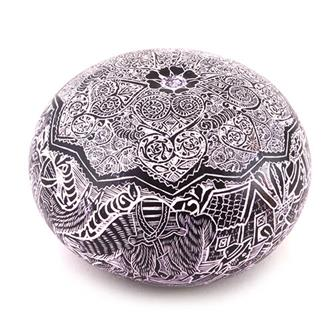 Artisan Intricate Folk Art Gourd No.11
