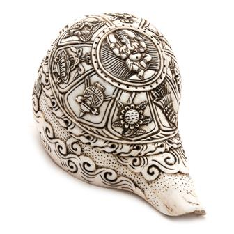 Etched Conch Shell - Ganesh