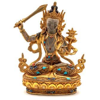 Himalayan Quartz Crystal Manjushri Statue