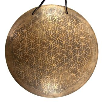 Flower of Life Metal Wind Gong No.33
