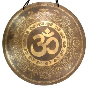 Om Symbol Metal Wind Gong No.34
