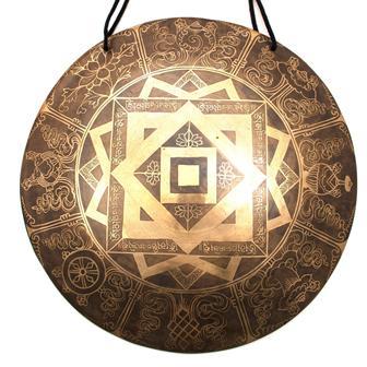 Shri Yantra Metal Wind Gong No.35