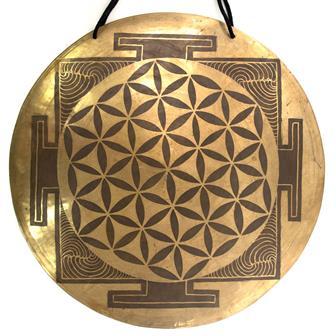 Flower of Life Mandala Metal Wind Gong No.36