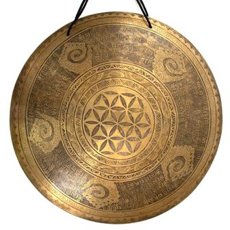 Flower of Life Cloud Mantra Metal Wind Gong No.37