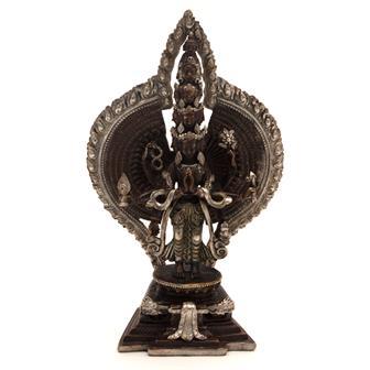 Copper Avalokiteshwara Statue