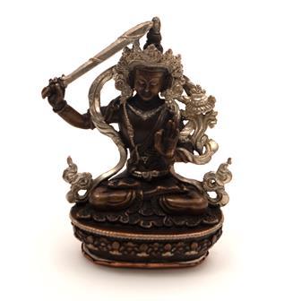 Copper Manjushri Statue
