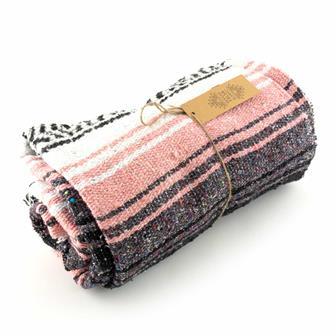 Mexican Falsa Blanket - Salmon Pink
