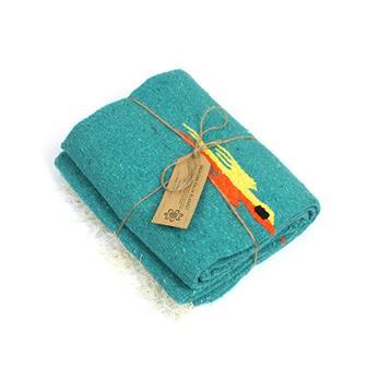 Mexican Bird Blanket - Teal