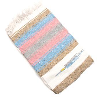 Mexican Bird Blanket - Pastel Stripe