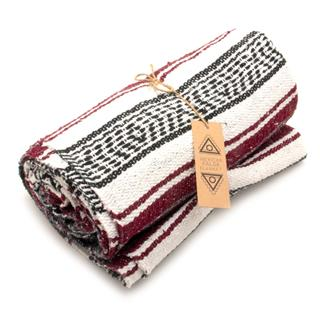 Mexican Falsa Blanket - Maroon