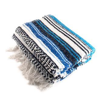 Mexican Falsa Blanket - Ocean Blue