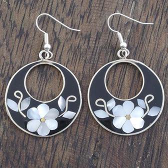 Fidelia Black Shell Earrings