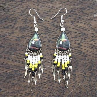 Tropical Bird Earrings