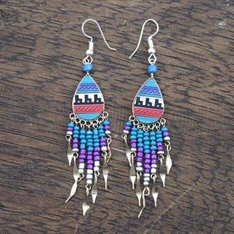 Incan Pattern Earrings