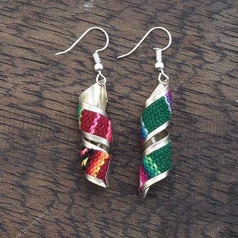 Twist Peruvian Fabric Earrings