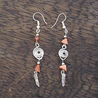 Stone Spiral Earrings