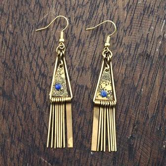Triangle Tine Earrings