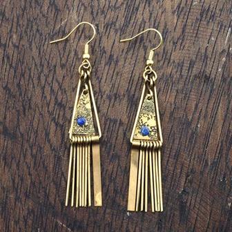 Triangle Tine Earrings