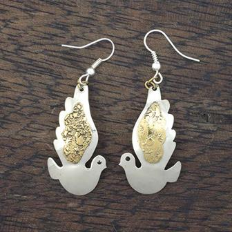 Flying Dove Earrings
