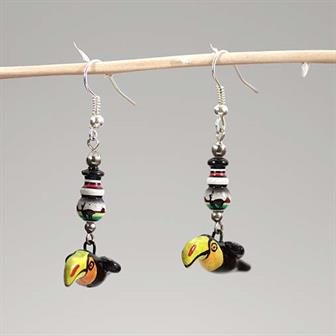 Toucan Peruvian Beaded Earrings