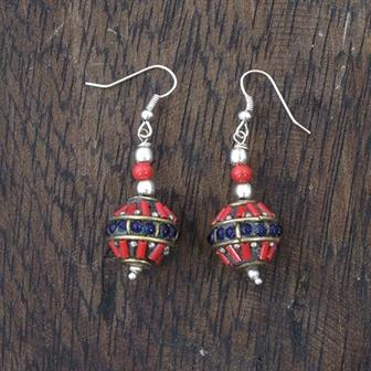 Nepalese Ball Earrings