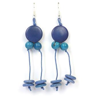 Tagua and Acai Earrings