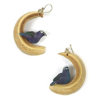 Rainforest Bird Earrings