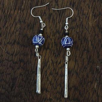 Bead and Tine Earrings
