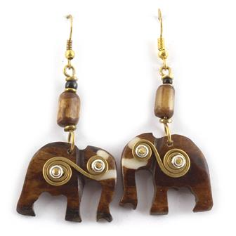 Spiral Elephant Earrings