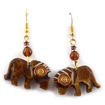 Spiral Lion Earrings