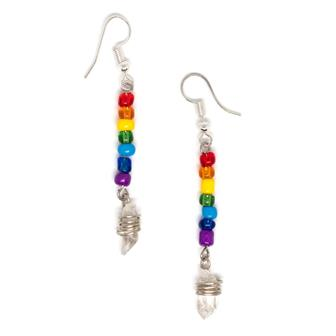 Chakra Beads with Crystal Earrings