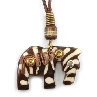 Spiral Zebra Necklace