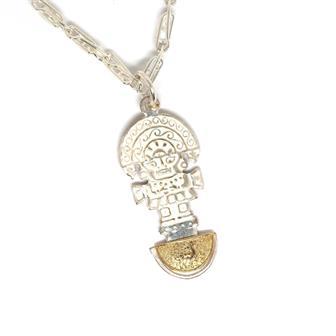 Silver Plate Peruvian Necklace