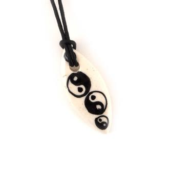 Triple Yin Yang Necklace