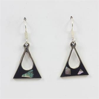 Anita Black Shell Earrings