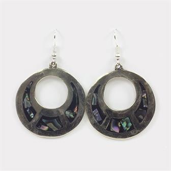 Angelica Inlay Round Earrings