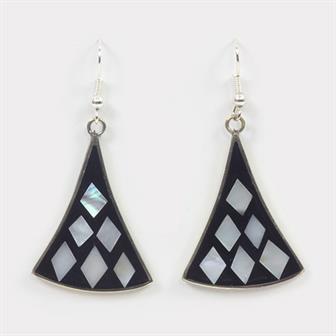 Abigail Flared Triangle Earrings