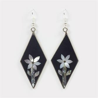 Diamond Floral Earrings
