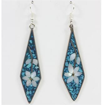Stretch Diamond Floral Earrings