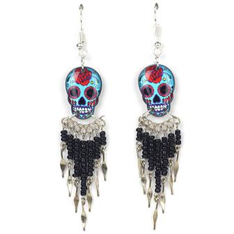 Calavera Skull Earrings