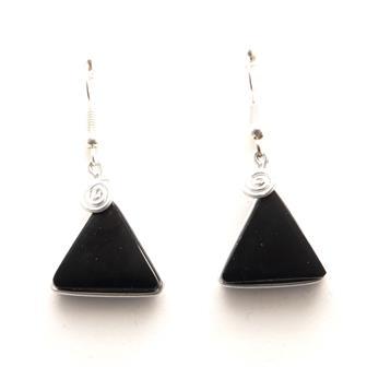 Stone Triangle Earrings