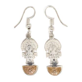 Silver Plate Peruvian Earrings