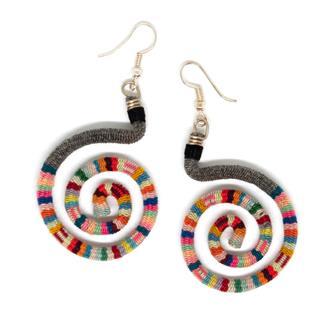 Vintage Manta Spiral Earrings