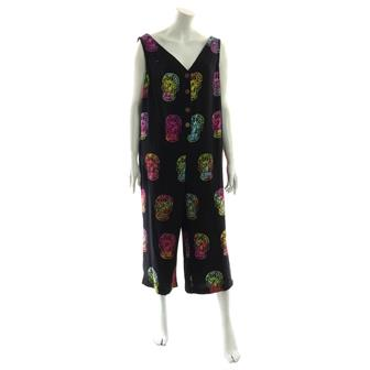 Black Candy Skull Button Jumpsuit