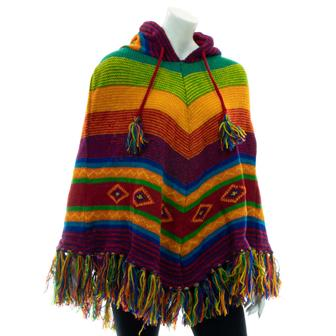 Knitted Mountain Poncho