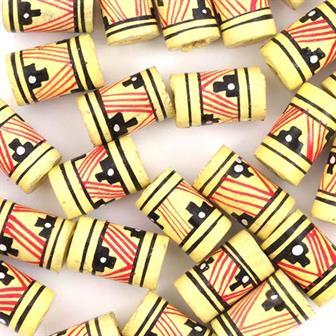 Yellow Barrel Bead