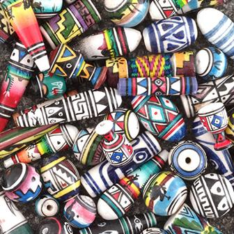 Mixed Cusco Beads x 100