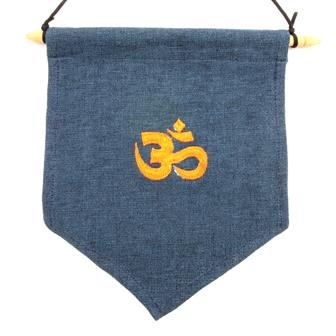 Embroidered Om Hanging