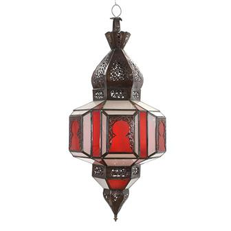 Red and White Moroccan Lantern (B Stock)